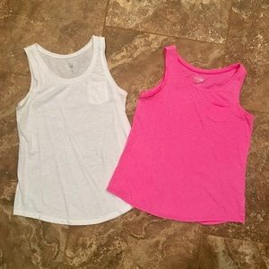 Justice girls size 18 set of 2 tank tops